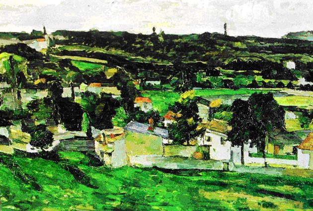 06 View of Auvers sur Oise Paul Cezanne από commons wikimedia